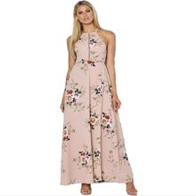 Buy 2017 Summer Chiffon Dresses Maxi Vintage Halter Neck Floral Print Beach Dresses BOHO Sexy Split Backless Long Dresses Plus Size for $11.01 in AliExpress store