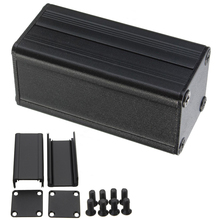 Black Extruded Aluminum Enclosure DIY Electronic Project Box Case 50x25x25mm with Corrosion Resistance