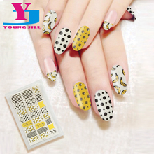 Fashion Nail Sticker Banana Dot Design 3D Nail Art Stickers Decoration For nails Decals Wraps New Arrive Beauty Office Lady(China)