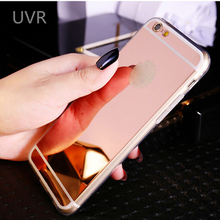 UVR Rose Gold Luxury Bling Mirror Case For Iphone 5 Case SE Clear TPU Ultra Slim Flexible Soft Cover For Iphone 5s Case