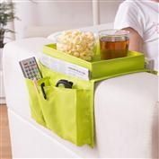 new Tray type sofa side Cup Remote Cases Basket Home Foldable Oxford Cloth Storage Bag Pouch Hanging Remote Control Organizer