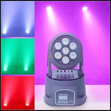 AC100V-240V 100% new stage lighting DMX512 7LED RGBW laser show led moving head wash Stage Light Effect Lamp Indoor Disco light