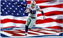3x5ft USA dallas cowboys football number 82 jason Witten player polyester flag with gromments(China)