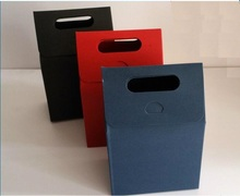 2 sizes Medium cardboard gift boxes,carton bag for tea,small packing kraft paper bags,food container bag with handle