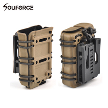 1 piece 5.56mm Tactical MAG Pouch Airsoft Molle Pouch PVC Material Molle System Military Hunting Accessories(China)
