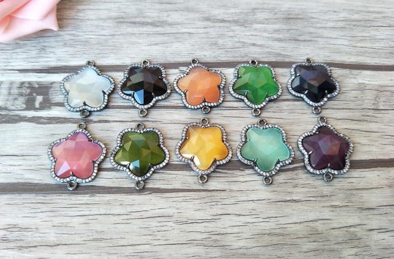 5 pair handmade Gorgeous Flower Vintage Bohemia water drop crystal ... 0cbc0ce33173
