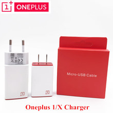 Original ONEPLUS 1 X Charger 5V/2A Usb Wall Charge Adapter with Flat Micro Usb Data Cable For One Plus One Mobile phone