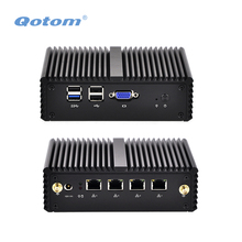 QOTOM 4 Gigabit LAN Mini PC Q190G4N with RAM/ SSD/ WIFI to make pfSense Firewall Router, Fanless Mini PFSense PC Running 24/7