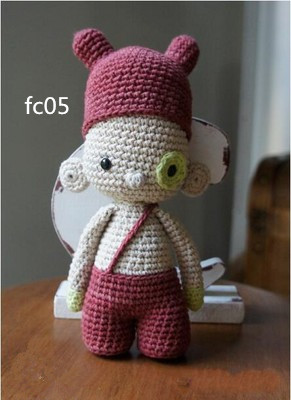 Crimson hat overalls cute boy - Darcy   crochet  Amigurumi doll<br><br>Aliexpress