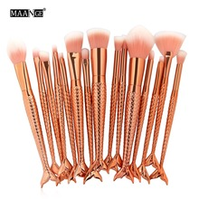 Full Styel Fish Makeup Brushes Set Blending Powder Contour Concealer Blush Eyeshadow Face Eyes Cosmetic Make Up Brush Tool Kits(China)