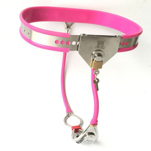 Buy New Female chastity belt bondage locks device fetish wear sex toys woman chastity panty slave bdsm stainless steel products