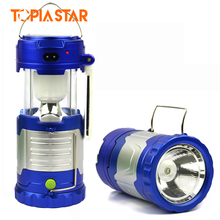 TOPIA STAR Outdoor Led Solar Camping Lantern, Brightest Cob Camping Lantern Flashlight with Side Light, DC Charger, Power Bank