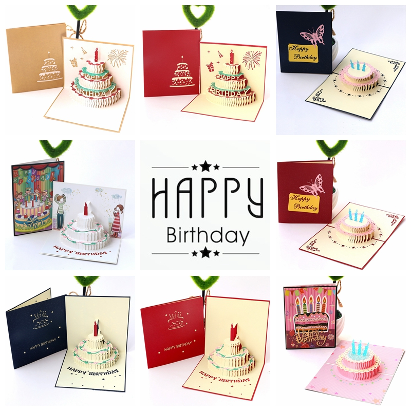 Fast Free US Shipping Blank Red White Green 3D Pop-Up Card ROSE BOUQUET