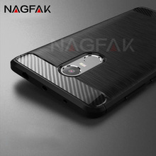 NAGFAK Silicone Soft TPU Brushed Carbon Fiber Case For Xiaomi Redmi 4 4X Full Cover For Redmi NOTE 4 4X Pro 32G 64G Cases shell(China)