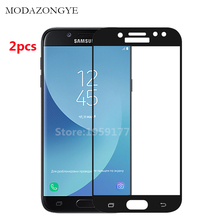 Buy Tempered Glass Samsung Galaxy J7 2017 Screen Protector Samsung Galaxy J7 2017 SM-J730F J730 Screen Protector Full Cover for $3.73 in AliExpress store