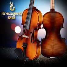 Free Shipping FineLegend 4/4 Tiger Pattern Handmade Professional Violin Solid Spruce Maple with Bow, Case, Rosin LCV1111-F
