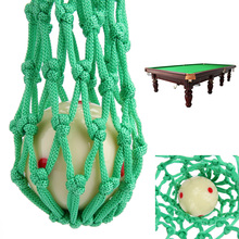 6 Pieces/Lot Green Billiard Pool Snooker Table Nylon Mesh Net Bags Pockets Club Kit Snooker Accessories Green Color Hot Sale(China)