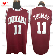 1981 Indiana Hoosier #11 Isiah Thomas Jersey Throwback College Basketball Jersey Vintage Retro Basket Shirts For Men Stitched(China)