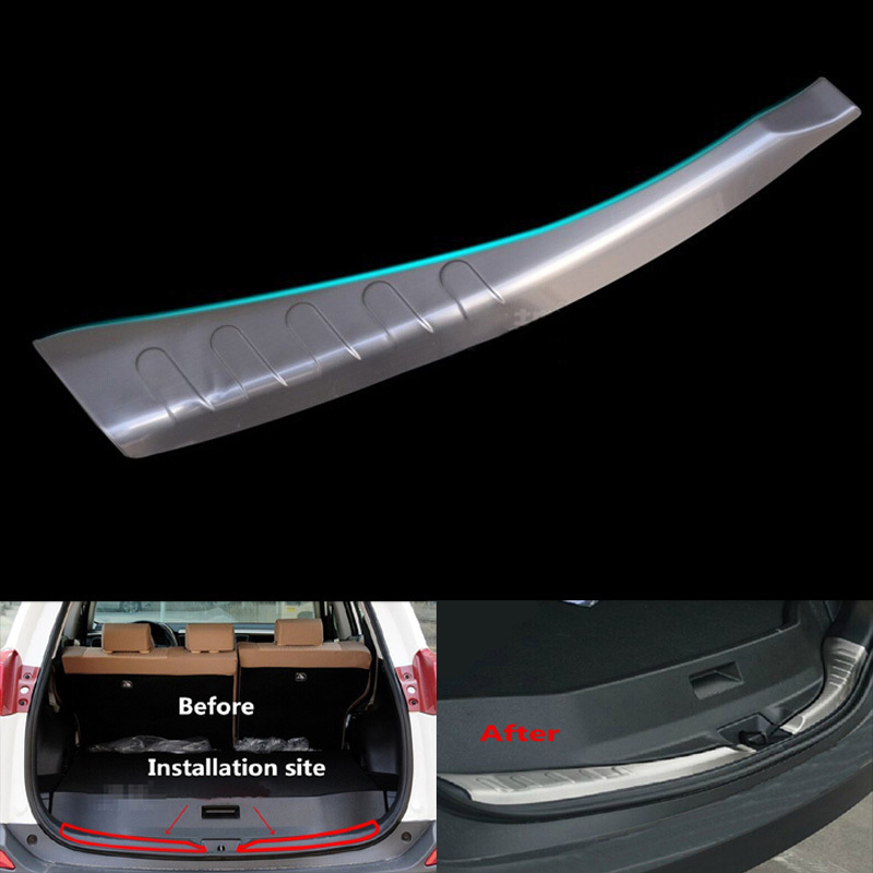 Rear Bumper Protector rear sill plate Inner fit for TOYOTA RAV4  XA40 2013 2014 Stainless Steel 2pcs per set<br>
