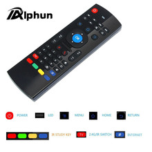Alphun MX3 Portable 2.4G Wireless Air Mouse Remote Control Keyboard Controller for Smart TV Android TV box mini PC HTPC black(China)
