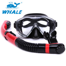 Hot sale Water Sport Training Diving glasses Anti-Fog Snorkeling Equipment Breathing tube Silicone Scuba Diving Mask Snorkel set(China)