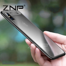 ZNP Full Protective Cases For iPhone X 8 7 Case 6 6s Plus Transparent Cover Cases For iPhone 7 6 6s 8 Plus 10 X Protective case(China)