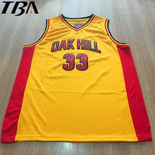2017 New Cheap Kevin Durant Jersey 33 Oak Hill High School Basketball Jerseys Throwback Yellow Stitch Shirts Free Shipping