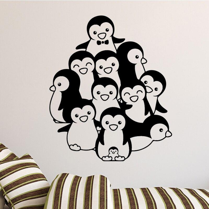 Cartoon Penguin Art Wall Sticker Vinyl Decal Home Kids Bedroom Art Decals