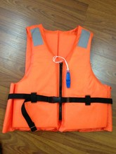 SOLAS marine life jacket life vest swimming vest Professional Orange Foam Swimming&Flood  Life Jacket with Whistle Free Shipping