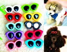 10pcs Fashion Style Pet Dog Bows dog accessories Love Glasses Design Pet Dog Hair Bows pet Grooming Products Cute Gift