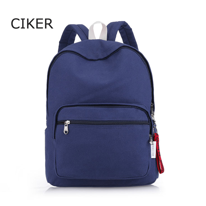 CIKER Brand New Korean Canvas Backpack Women School Bags for Teenage Girls Cute Rucksack Vintage Laptop Backpacks Female Mochila<br><br>Aliexpress