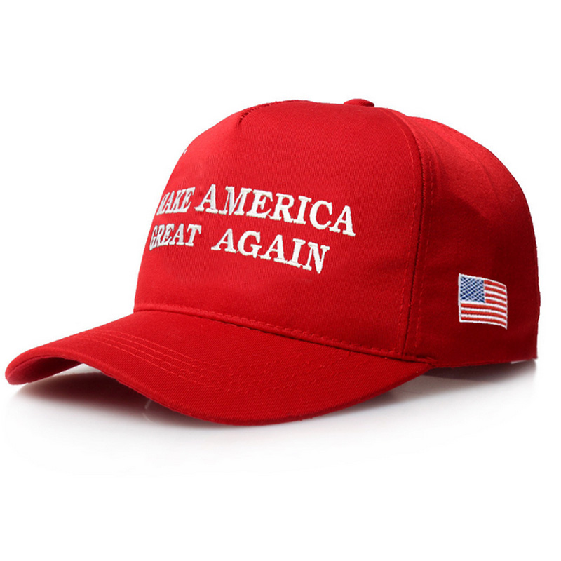 Make America Great Letter Print Donald Trump Hat 2017 Republican Snapback Baseball Cap Polo Hat President USA Hat