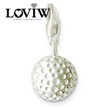 Silver Golf Ball,2017 Women style Charms, Gift Fashionable Pendant for Necklace in Silver,Friend Gift