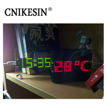 CNIKESIN DIY Kit DS3231 Multi-function LED Digital Clock Thermometer Desktop Watch Electronic Kits Clock with Acrylic Case