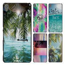 Aloha Summer Stripes Style Case Cover for Sony Ericsson Xperia X XZ XA XA1 M4 Aqua E4 E5 C4 C5 Z1 Z2 Z3 Z4 Z5(China)