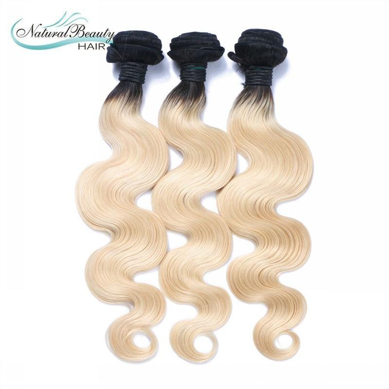 1b 613 blonde virgin hair 3pcs a lot ombre brazilian hair two tone human hair free shipping hot selling on aliexpress<br><br>Aliexpress