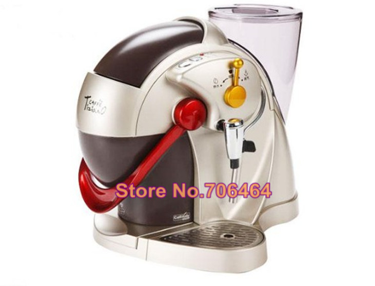 Fully automatic caffitaly capsule coffee machine Red espresso capsule coffee maker Latte cappuccino electric kitchen appliance(China)