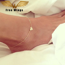 Ankle Bracelet Feet Leg Chain Love Barefoot Sandals Anklets For Women Beach Accessories Gold Heart Anklet Foot Jewelry Bracelets