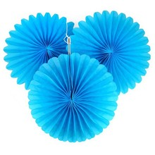 8 inch(20cm) Wedding Party Round Tissue Paper Fan Flower Fan Birthday Christmas Supplies Decorative Paper Fan
