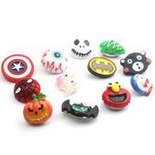 Random Delivery 10pcs /lot 3D Cartoon Movie Resin Snap Button Dsney Christmas Halloween 18/20mm Snap Button DIY Jewelry M817