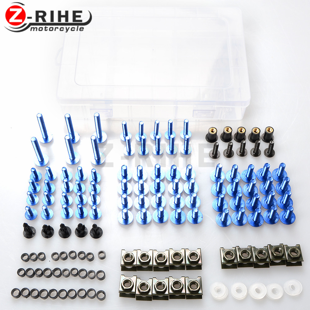 for Universal Aluminum Motorcycle accessories Fairing Bolt Screw Fastener Fixation For HONDA RVF400 NC35 RC51 RC51 RVT1000 RC51<br>