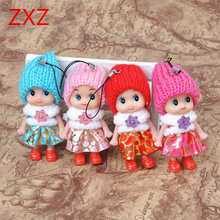 12 typ 8cm Kids Model Toys Soft Interactive Baby Dolls Toy Mini Doll Girls cute pendant Toys Creative Small Children's Day Gifts