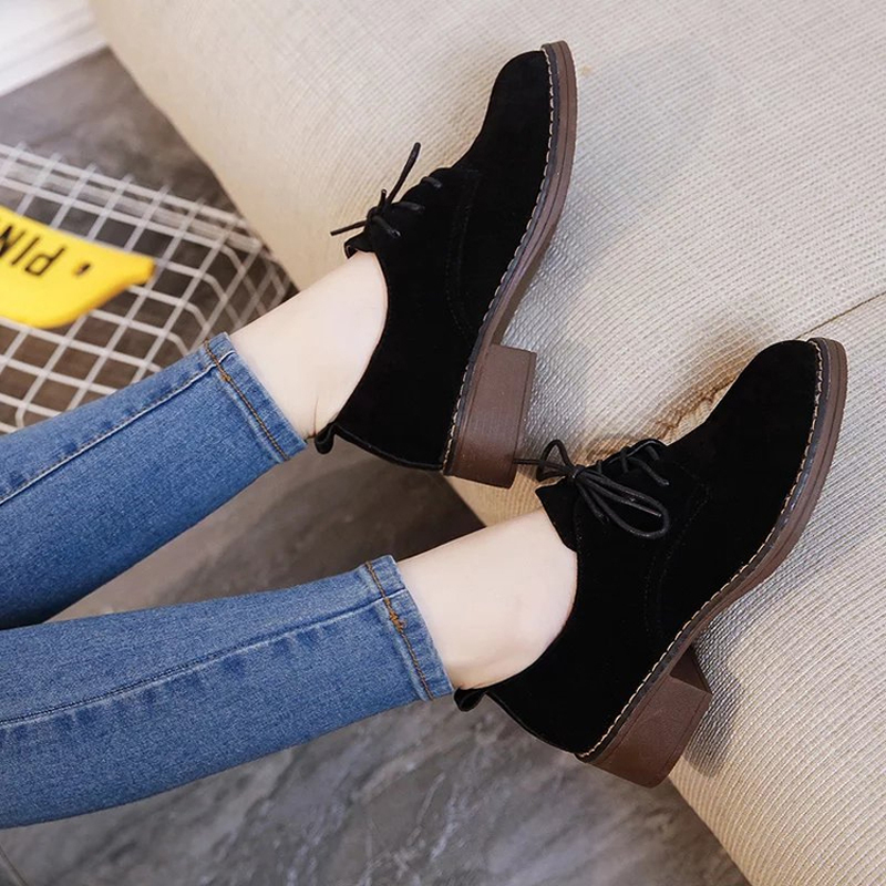 British retro matte leather suede shoes 2016 new fall thick with round bottom in Oxford shoes with lace<br><br>Aliexpress