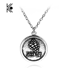 Green Day Rock Band Logo Alloy Pendent Cool Necklace USA Punk Band Necklaces Star Band Jewelry Fashion High Quality Gif For Fans