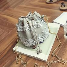 Naivety Women Bag Lace PU Leather Bucket Handbag Crossbody Shoulder Bags Messenger Satchel 2017 New Tote 30S7426 drop shipping