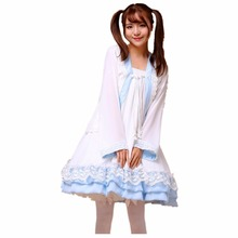 Shanghai Story Girl Chiffon/ Lace Lolita Dress Han Chinese Clothing Cosplay Costume Women Maid Dress Halloween Party Clothes Set