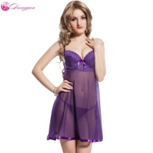 Buy DangYan 2017 plus size sexy babydoll transparent erotic dress G-string sexy pajamas erotic lingerie sexy costumes sex