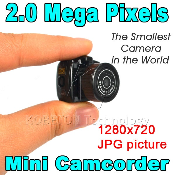 Y2000 Micro Mini HD CMOS2.0 Mega Pixel Pocket Video Audio Digital Camera 4pcs Portable 480P DV DVR Camercorder 720P JPG Recorder(China)