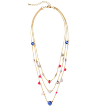 Latest Colorful Imitation Jewel Short Layered Necklace From India Bijouterie Fashion Necklaces for Women Mother Gift