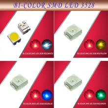 evemodel 100pcs 3528 SMD LED Bi-Color Red-Blue / Yellow / Green / White LEDs NEW 1/35 model train railway modeling(China)